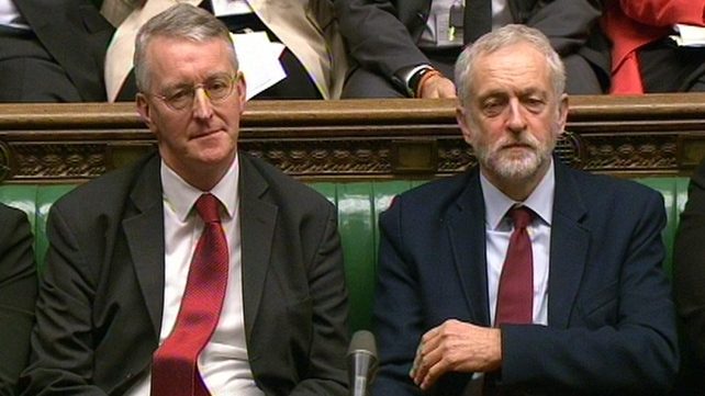 Hilary Benn (L) had been widely expected to be dropped by Jeremy Corbyn (R)