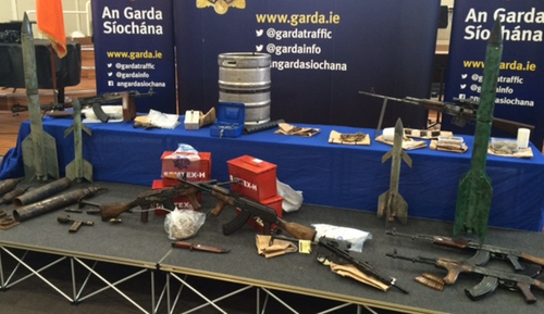 The firearms and explosives were found in searches all over the country