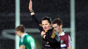 Maggie Farrelly took charge of the Fermanagh v St Mary's tie