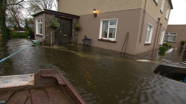 This home outside Hollymount in Co Mayo has been flooded for over four weeks
