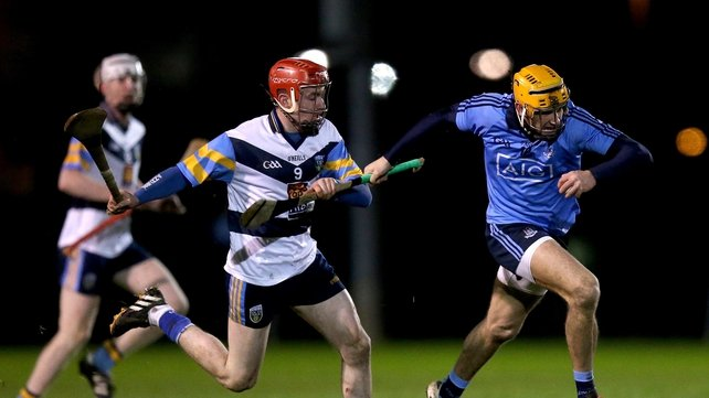 Dublin's Eamonn Dillon and Jack Mullaney of UCD were part of a lively encounter at Belfield