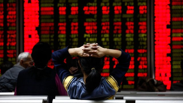 Global stocks were affected after a massive sell-off resulted in trade being suspended after 30 minutes in China yesterday