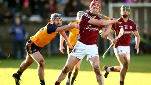 Joe Canning and Galway hung on for a two-point win in the Walsh Cup against DCU