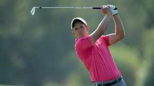 Luke Donald in action at the 2015 World Tour Championship in Dubai