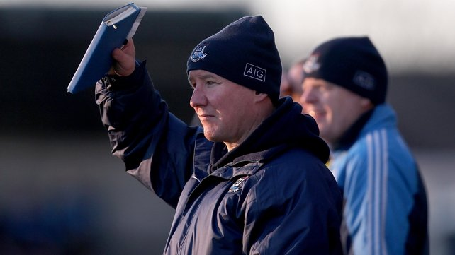 Jim Gavin watches on at Parnell Park as his charges recorded back-to-back wins in this year's O'Byrne Cup