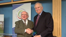 President Michael D Higgins paid tribute to Bruce Morrison at the ceremony this evening