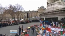 Ceremonies have taken place in Paris to mark the Charlie Hebdo attacks