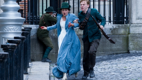Charlie Murphy and Brian Gleeson feel the heat in episode two of Rebellion