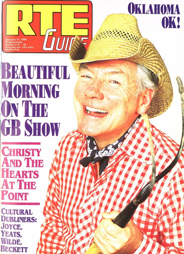 Gay Byrne on the Cover of RTÉ Guide, 11 January 1991 to promote Oklahoma