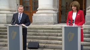 A joint press statement from the Taoiseach and Tánaiste on the steps of Government Buildings 'has been discussed'