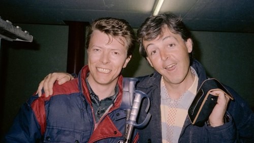 David Bowie and Paul McCartney. Photo: Paul McCartney, Facebook