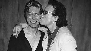 Bono pictured with David Bowie, image via Twitter