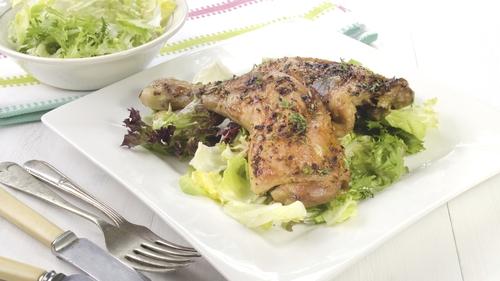 Chicken Drumsticks with green salad - just add potato salad