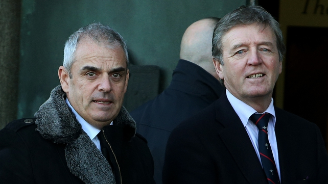 Golfers Paul McGinley and Des Smyth attended the funeral