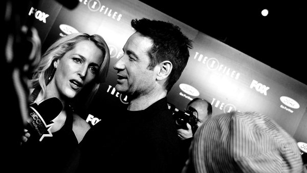 Gillian Anderson and Duchovny at the premiere of The X-Files in L.A.