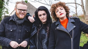 Comin' atcha: Huw Stephens, May Kay and Annie Mac are the presenters of the new series of Other Voices.