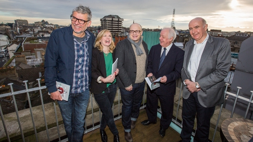 L-R: Director Paddy Breathnach, actress Eva Birthistle, directors Lenny Abrahamson and Jim Sheridan and James Hickey, Chief Executive of the Irish Film Board