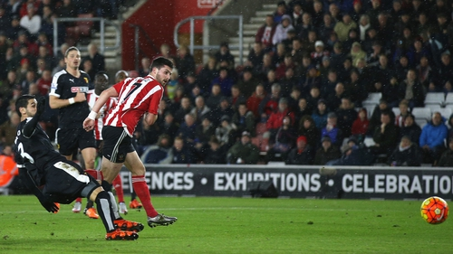 Shane Long put Southampton ahead in the 16th minute