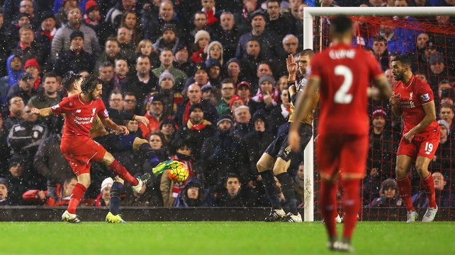 Joe Allen equalises for Liverpool late on