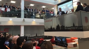 Taoiseach Enda Kenny attended the announcement at Oracle's Dublin offices
