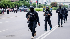 Heavy security in the area where the attacks occurred
