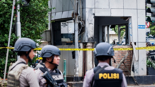 Two civilians - an Indonesian and a Canadaian - were killed in the attack, as well as five attackers
