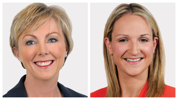 Regina Doherty (L) and Helen McEntee