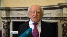 President Higgins honoured with award from govt of Chile