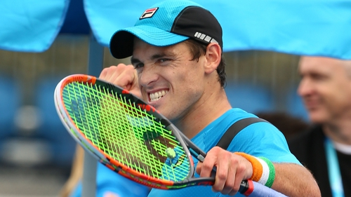 James McGee shows his delight after his win over Radu Albot