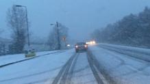 Snow this morning in Longford (Pic: @GardaTraffic)