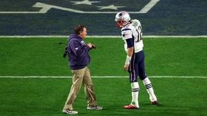 Bill Belichick and Tom Brady of the New England Patriots