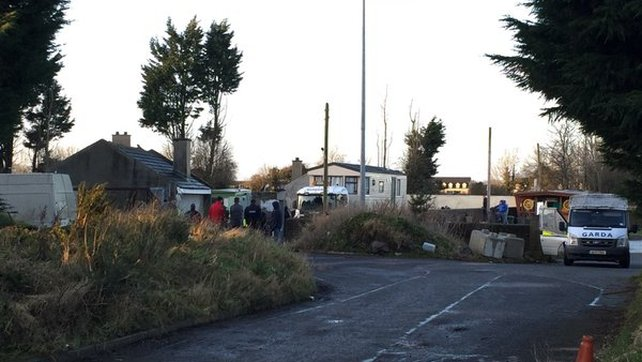 Gardaí enforced the eviction order at the halting site
