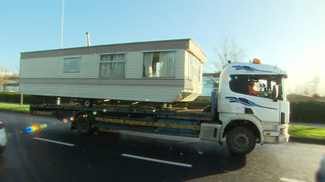 Mobile homes and caravans were removed from the site