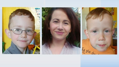Benjamin, Joanna and Vincent Rose (l-r) were reported missing from their home at Newcourt Villas, Bray on Tuesday