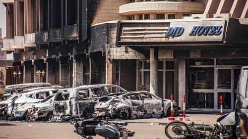 Two car bombs exploded outside the Splendid Hotel in Ouagadougou, Burkina Faso, during the attack