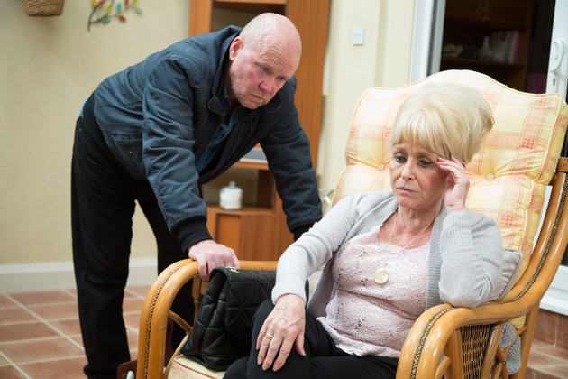 Barbara Windsor filming her last scenes as Peggy Mitchell