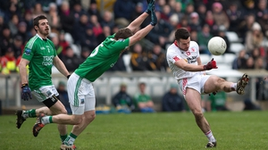 Tyrone's Darren McCurry kicks a point