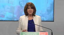 """Joan Burton Fianna Fáil leader Michael Martin has a """"brass neck"""" for 'trying to claim the credit for the recovery'"""