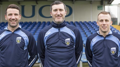 UCD's new signings Brian Shortall, Jason Byrne and Cathal Brady