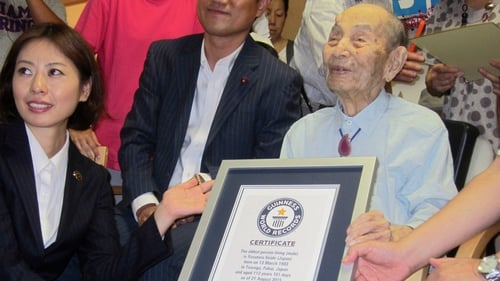 In July Yasutaro Koide received a certificate from the Guinness World Records for being the world's oldest man