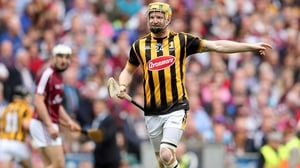 Richie Power on his last appearance at Croke Park with the Cats, his left knee heavily strapped