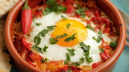 Turkish Eggs - you can cook the eggs to your liking and throw in a little fresh chili to spice things up