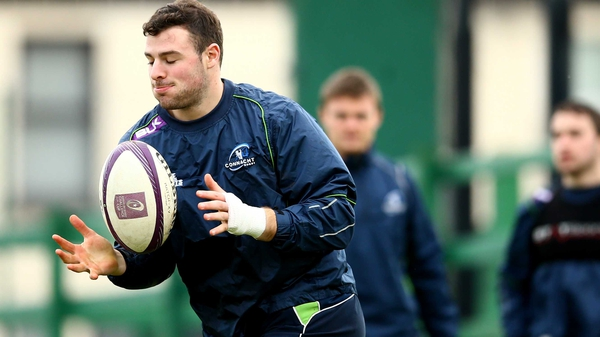 Robbie Henshaw pictured at training on Tuesday