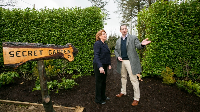 Minister of State at the Department of Kathleen Lynch and CEO of Nua Healthcare Edward Dunne at the official opening of the Nua Healthcare facility at Glenview House in Kilmallock, Co Limerick