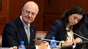 UN envoy Staffan de Mistura announced the formal start of the talks yesterday