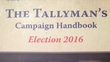 Still no election date but Tallyman's Campaign Handbook is now on the shelves