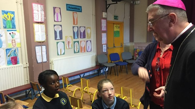 Dr Diarmuid Martin was speaking during a visit to a Dublin school