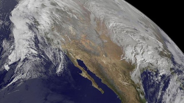 This image, released by NASA shows the winter storm headed for the east coast in the US