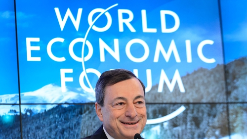 ECB chief Mario Draghi describes steep market falls as 'vibrations and gyrations'