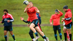 Andrew Conway at squad training in UL